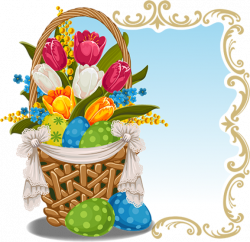 Tubes Paques   Clip - Wielkanoc   Pinterest   Easter egg basket ...