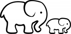 Elephant clipart easy pencil and in color elephant png ...