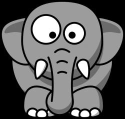 Grey Elephant Clipart - ClipartBlack.com