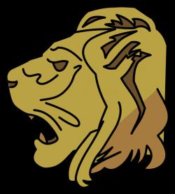 Lion Head Clip Art at Clker.com - vector clip art online, royalty ...
