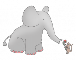 Mouse Clipart Elephant - Pencil And In Color Mouse Clipart Elephant ...