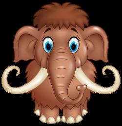 Cute Mammoth Cartoon PNG Clipart Image | Critter clip art ...
