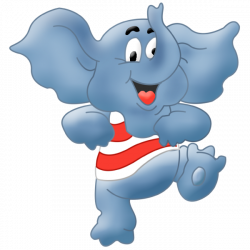 Cute Baby Elephant Cute Cartoon Clip Art Images. All Images Are On A ...