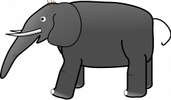 28+ Collection of Grey Elephant Clipart | High quality, free ...