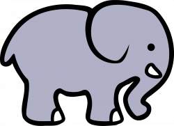 2D cartoon elephant by @lemmling, A simple cartoon elephant, on ...