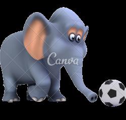 3d Football Elephant - Photos by Canva