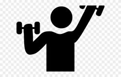 Dumbbells Clipart Fitness Goal - Black And White Exercise ...