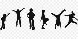 Fitness Cartoon clipart - Exercise, Child, Silhouette ...