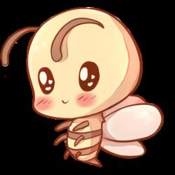 Drawn bees kawaii - Pencil and in color drawn bees kawaii