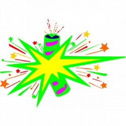 Explosion clipart firecracker - Pencil and in color explosion ...