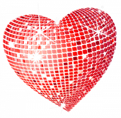 Red Disco Heart PNG Clipart Picture | Wallpapers and more ...