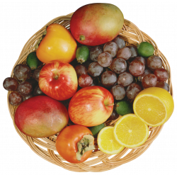 Mixed Fruits in Wicker Bowl PNG Clipart - Best WEB Clipart