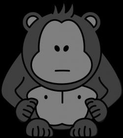 Gorilla With No Eyes Clip Art at Clker.com - vector clip art online ...
