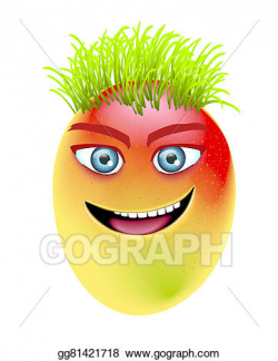 Stock Illustration - Mango eye teeth. Clipart Drawing ...