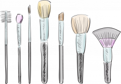 Makeup Brushes Drawing at GetDrawings.com | Free for personal use ...
