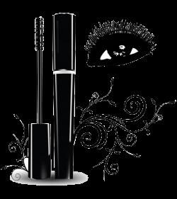 Eyelash extensions Brush Clip art - Hand painted black eye makeup ...
