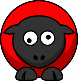 Sheep - Red On Red On Black Googly Eyes Clip Art at Clker.com ...