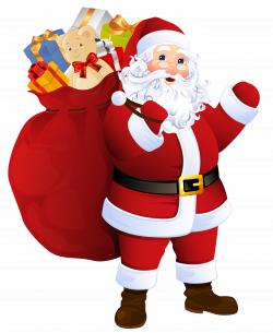 Transparent Santa Claus with Bag of Gifts   https://gallery ...