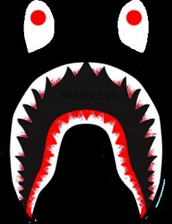 bloody bape logo teeth shark supreme bathingape memezas...