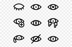 Clipart Eyes Third Eye - Avoid Contact With Eyes Symbol, HD ...