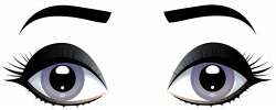Female Grey Eyes with Eyebrows PNG Clip Art - Best WEB Clipart