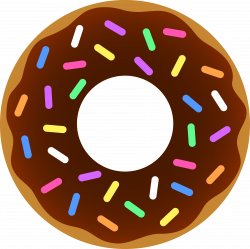28+ Collection of Donut With Sprinkles Clipart | High quality, free ...