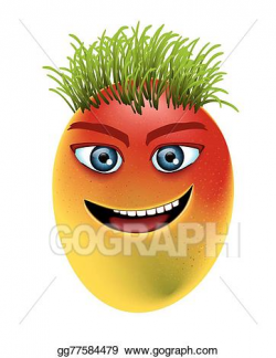 Vector Illustration - Mango eye teeth. EPS Clipart ...