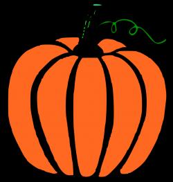 Big pumpkin and little pumpkin image clipart