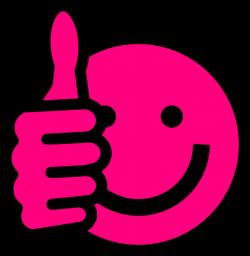 Hot Pink Thumbs Up Clip Art at Clker.com - vector clip art online ...