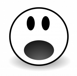 28+ Collection of Scared Face Clipart Black And White   High quality ...