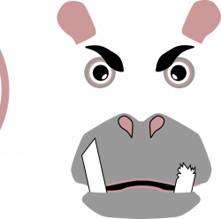 Clipart - Angry Hippo