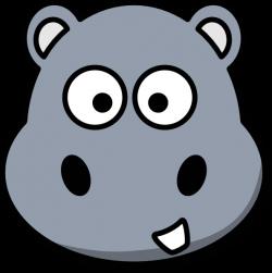 Hippo Head Clip Art at Clker.com - vector clip art online, royalty ...
