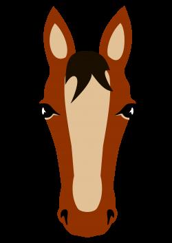 Clipart - Horse face