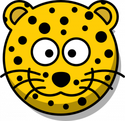 Leopard Head Without Tail Clip Art at Clker.com - vector clip art ...