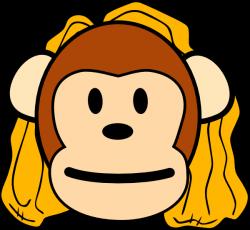 Mother Monkey Clip Art at Clker.com - vector clip art online ...