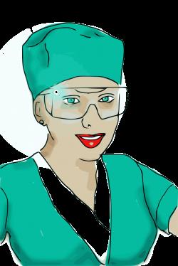 Clipart - enrolled scrub nurse