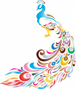 Clipart chromatic peacock 2 no background - Clipartix