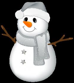 Transparent Snowman with Grey Hat Clipart   сніговики .санта ...