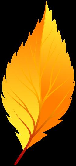 Yellow Autumn Leaf PNG Clip Art - Best WEB Clipart