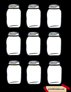 Free Printable Mason Jar Tags for Homemade products | food ...