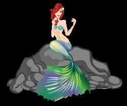 Mermaid clip art digital Paper Fantasy mermaid illustration scrap ...