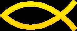 Gold Christian Fish Symbol - Free Clip Art - Clip Art Library