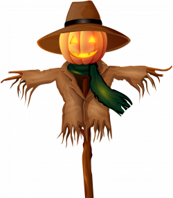 Halloween Scarecrow PNG Gold Clip Art | Gallery Yopriceville - High ...