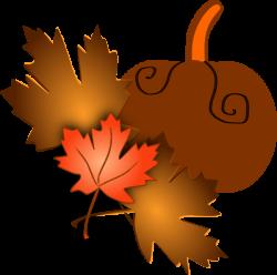 Pumpkin With Leaves Clip Art at Clker.com - vector clip art online ...
