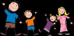 Clipart - Stick Figure Family
