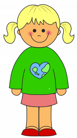 clipart little girls | EDUCASONG : {Free} Earth Day Clip Art | VBS ...