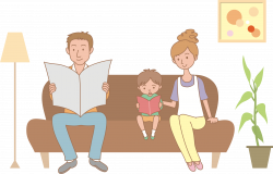 Clipart - Family on sofa