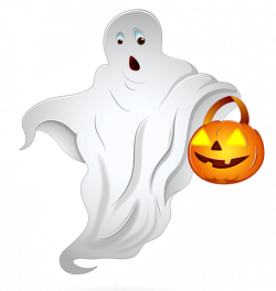 Halloween Ghost with Pumpkin Basket PNG Clipart | Imagenes png ...