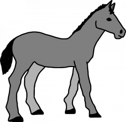 Grey Horse Clip Art at Clker.com - vector clip art online, royalty ...