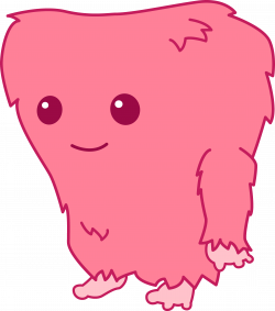Fuzzy Cute Monster Clipart